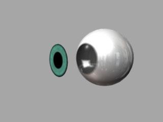 maya チュートリアル 眼球の作り方、質感設定