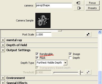 Mayaチュートリアル FAQ バッチレンダリングのカメラ
