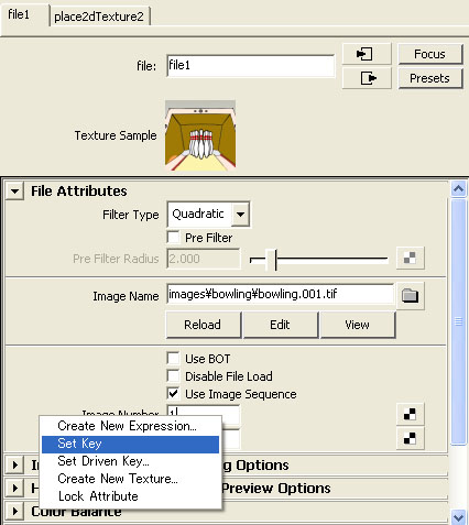 maya チュートリアル FAQ Texture File アニメーション